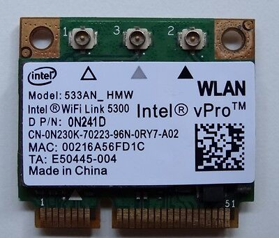INTEL Ultimate N WiFi Link Half Mini PCIE BGN WiFi Card 533AN_HMW 5300AGN - W039