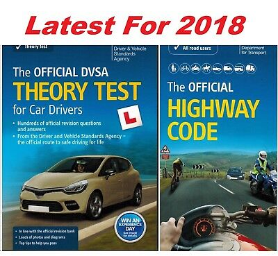 DVSA Driving Theory Test for Car Drivers Book 2018+Latest Highway Code Book*ThRH