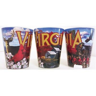 Virginia Usa Collage Shot Glass New Made Of Glass