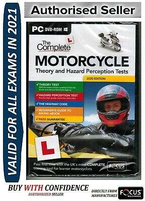 2018 Complete Motorcycle/Motorbike Theory & Hazard Perception Tests DVD CD fcMtr
