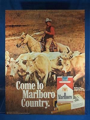 Vintage Magazine Ad Print Design Advertising Marlboro Cigarettes