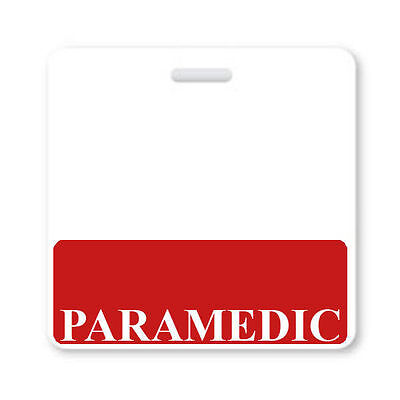 PARAMEDIC Horizontal Badge Buddy with Red Border by Specialist ID