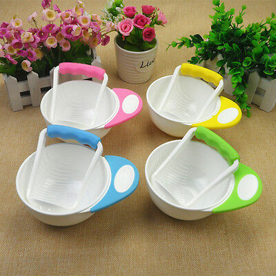 2Pcs Baby Tableware Food Fruit Masher + Serve Bowl for Making Homemade Baby Food