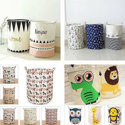 High Quality All kinds of Lovely Washing Clothes Laundry Basket Bag Storage US