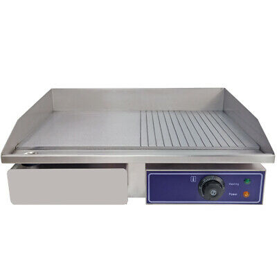 Commercial Electric Griddle Countertop Stainless Steel Large Flat Hotplate