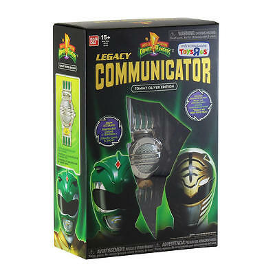 Mighty Morphin Legacy Communicator Tommy Oliver Edition Green White Ranger