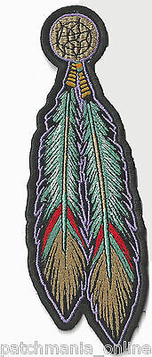 Tribal Feathers -  Iron On Patch