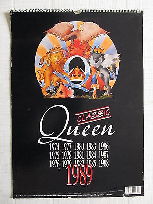 Queen-Official A3 Calendar-1989-12 Amazing Photographs-