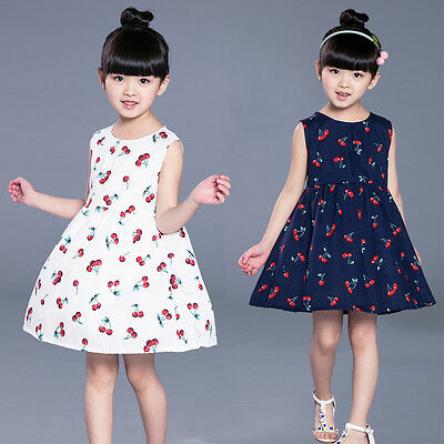 Baby Girl Kids Summer Princess Mini Dress Party Wedding Pageant Dresses Clothes