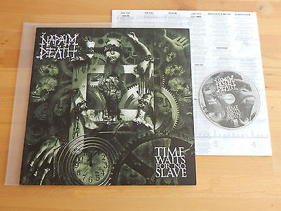 NAPALM DEATH - Time Waits For No Slave FIRST GERMAN PRESS 2009 Vinyl + CD