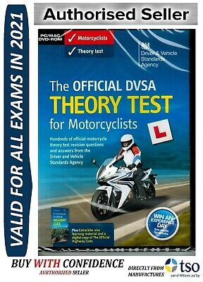Official DVSA Motorbike/Motorcycle Theory Test DVD for PC and MAC 2018 L'mtrDvd