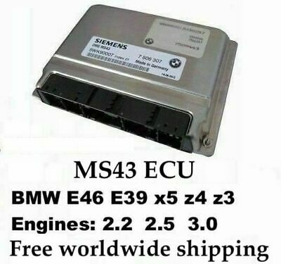 MS43 Chip Tuned ECU 7000rpm +EWS delete for BMW E53 E46 E39 Z3 M54 3.0 2.5 2.2