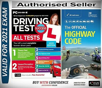 2019 Driving Theory Test and Hazard CD DVD + Official DSA Highway Code Book aPcH