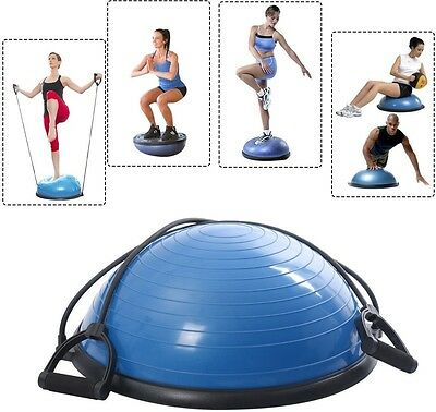 Large Exercise Ball Yoga Balance Trainer Yoga Fitness Strength Workout Blue