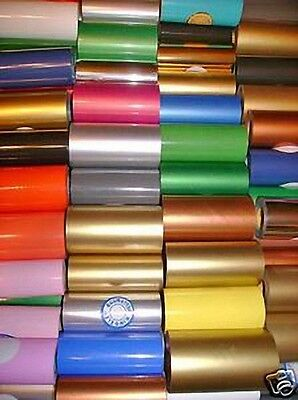 """HOT STAMP STAMPING FOIL KINGSLEY HOWARD  12 ASSORTED COLORS 2""""x100' on 1/2"""" CORE"""