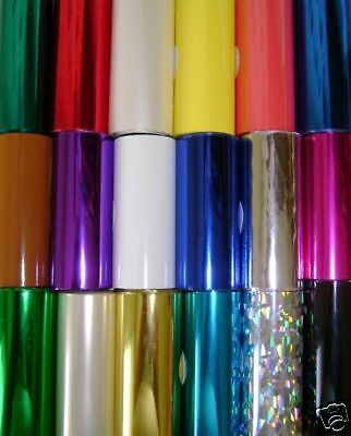 """RECLAIMED HOT STAMP STAMPING MACHINE FOIL -6 KINGSLEY ROLLS -3"""" x 35'"""