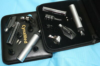 Incredible 3.2V Pro LED 5X LENS OTOSCOPE OPTHALMOSCOPE SET W/ZIPPER CASE A+ CE