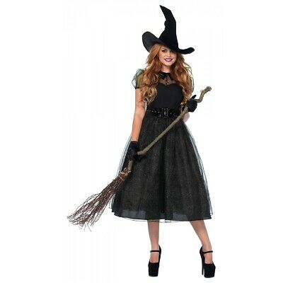 Witch Costume Adult Halloween Fancy Dress