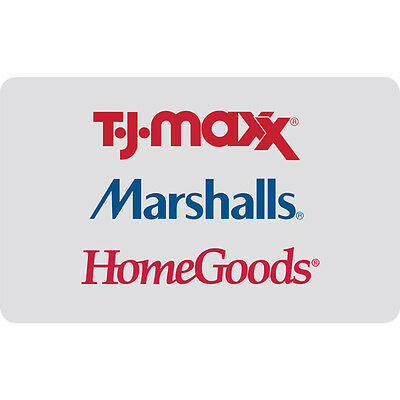 $25 / $50 / $100 HomeGoods Gift Card - Mail Delivery