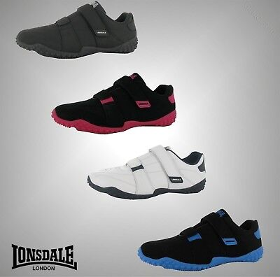 Juniors Boys Girls Branded Lonsdale Everyday Gym Sports Fulham Trainers Size 3-6