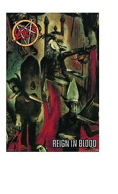 SLAYER ~ REIGN IN BLOOD ~ 24x36 MUSIC POSTER ~ NEW/ROLLED!