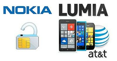AT&T UNLOCK CODE NOKIA MICROSOFT LUMIA 635 520 RM-975 Surface 3 1657 Windows 8.1