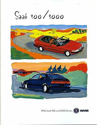 1996 Saab 900 9000 Series Brochure my6369