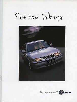 1997 Saab 900 Talladega Coupe Convertible 5-Door Brochure my6374