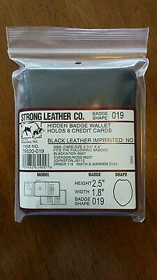 NEW! Strong Leather Hidden Badge Wallet 79520-019