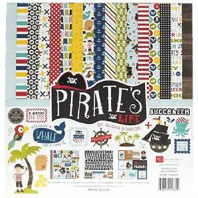Echo Park Pirates Life Scrapbook Paper Page Kit Cruise Stickers