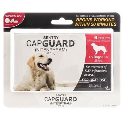 Sentry Capguard Nitenpyram Oral Flea Treatment Tabs 6ct Dogs over 25 lbs