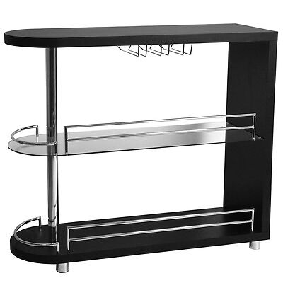 Homegear Deluxe Kitchen Bar Table - Black
