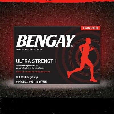 BENGAY Ultra STRENGTH NON-GREASY CREAM 2 - 4 oz TWIN PACK