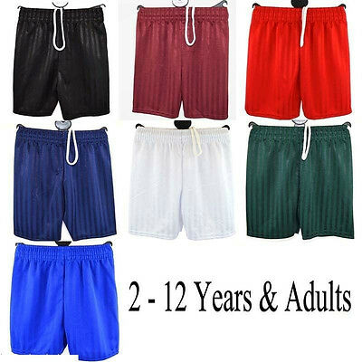 Boys Girls Children School Sports Shadow Stripe PE Shorts Kids Football Size