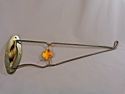 "Vintage Swivel Wall Hook 15"" Clover Gold Plant Bird Feeder Hanger Garden Patio"