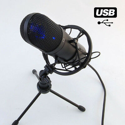 MCU-01 USB Large-diaphragm Studio Condensor Microphone for Home Recording Rap