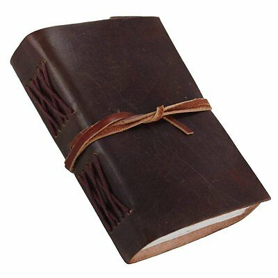 Rustic Pocket Leather Journal Diary (Handmade) With Leather Wraps -20%+ off