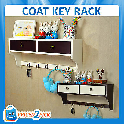 Coat Handbag Jacket Clothes Umbrella Scarf Key Rack Stand Hanger Shelf Drawer