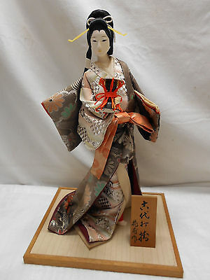 Japanese Porcelain Doll on stand GEISHA GIRL with DRUM #66