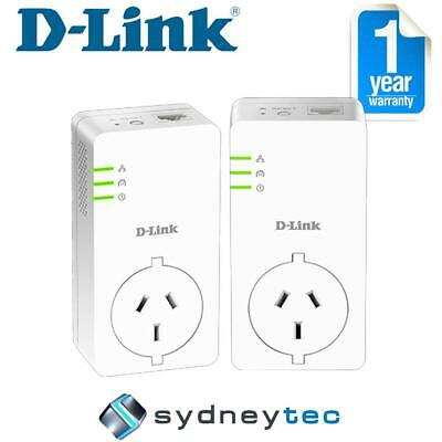 New D-Link DHP-P601AV PowerLine AV2 1000 Gigabit Passthrough Kit
