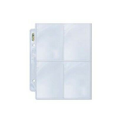 "(10) Ultra Pro 2 1/2 x 3 1/2"" 4 Pocket Album Pages - For 2 Ring Mini Binders"
