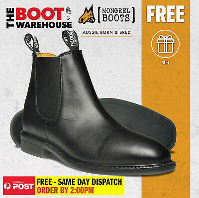 Mongrel 805025 Black Non Safety, Dress Boot, Fully Lined, Work / Riding Boots