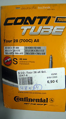 Conti Tube Tour 28 (700C) All  Fahrradschlauch  S 42 mm 0182031  (G64)15741