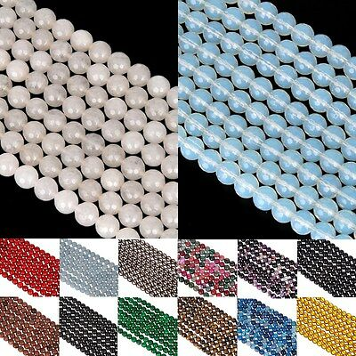 Faceted Natural Gemstone Spacer Loose Beads Jewelry Making DIY Craft