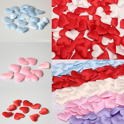 100 Pcs New Cute Fabric Heart Wedding Confetti Table Party Decoration Love Gift