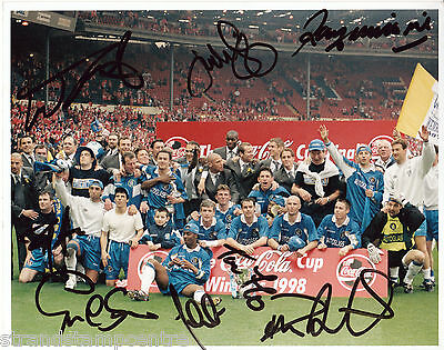 "1998 League Cup Final - Colour 10""x 8"" Multi Signed Chelsea Photo - UACC RD223"