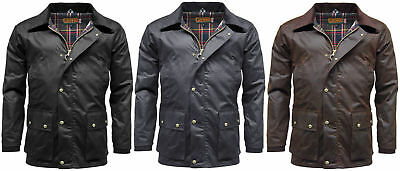 Mens Game Barker Wax Jacket with Detachable Hood | Waxed Cotton