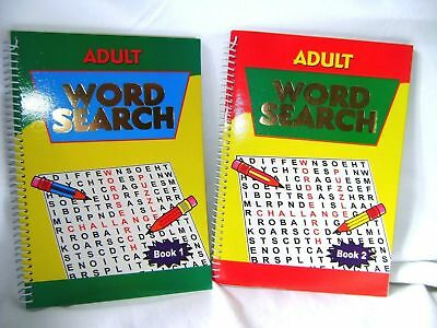 NEW 2 SPIRO ADULT WORD SEARCH BOOKS 240 PUZZLES IN TOTAL! WORDSEARCHES No. 1 - 2
