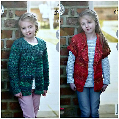 KNITTING PATTERN Girls Easy Knit Cardigan & Jacket Chunky 4668 King Cole