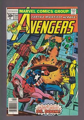 Avengers # 156  The Deadly Weapons of Doctor Doom !   grade 7.5 scarce book !